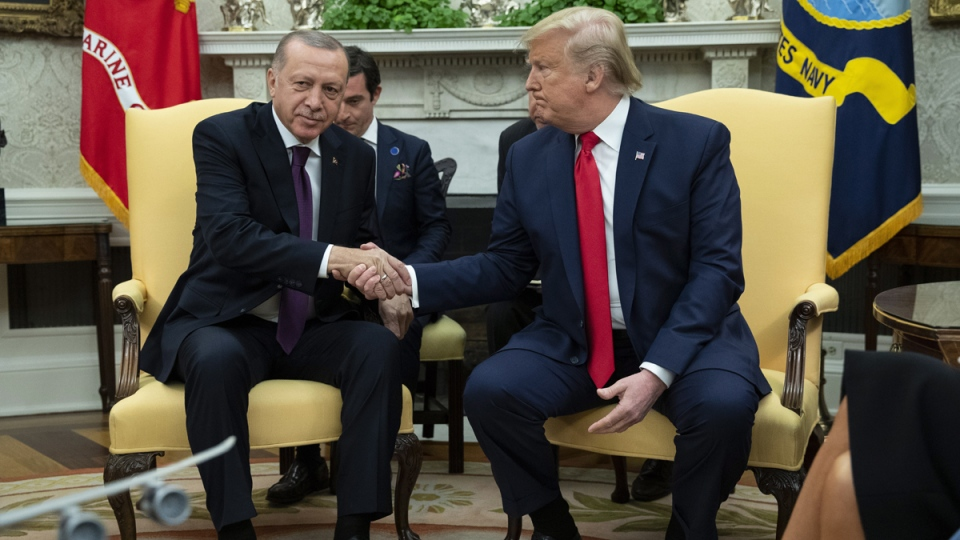 Trump and Erdogan in the Oval Office