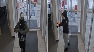 Police are searching for two men they say committed an armed robbery in city's east end on Tuesday. (Ottawa Police)