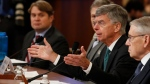 Top U.S. diplomat in Ukraine William Taylor testifies before the House Intelligence Committee on Capitol Hill in Washington, Wednesday, Nov. 13, 2019, during the first public impeachment hearing of President Donald Trump's efforts to tie U.S. aid for Ukraine to investigations of his political opponents. (AP Photo/Alex Brandon)