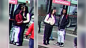 Police are looking to identify two people after a stabbing on an OC Transpo bus in the west end on Monday.