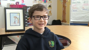 Young Kanata boy captivated by Terry Fox