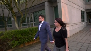 Neither Samuel Emerson nor his wife spoke to reporters as they exited the courthouse. (CTV)