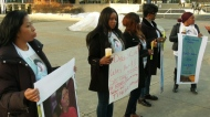 Rally held for slain caseworker