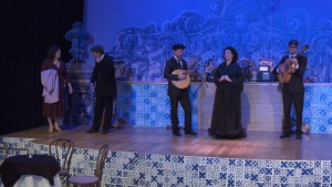 A scene from the Portuguese-Canadian created play, Fado: The Saddest Music in the World, unfolds: Nov. 13, 2019 (CTV News)