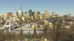 Edmonton skyline. Nov. 13, 2019. (CTV News Edmonton)
