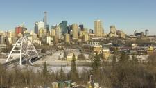 Edmonton skyline. Nov. 13, 2019. (CTV News Edmonton)