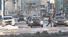 A snowy Edmonton street. Nov. 13, 2019. (CTV News Edmonton)
