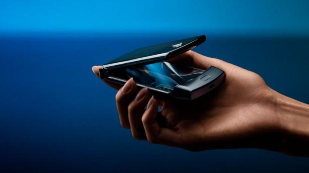 This undated product image provided by Motorola by Motorola's new Razr phone. (Motorola via AP)