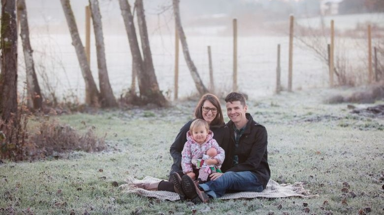 Aaron and Patricia Pearson are pictured with their two-year-old biological daughter Emma in a photo taken in December 2018 by Coastal Lifestyles Photography. HO / THE CANADIAN PRESS