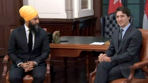 PM Trudeau meets with Singh in Ottawa