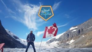 Dan Van Drunen poses at Jasper National Park.
