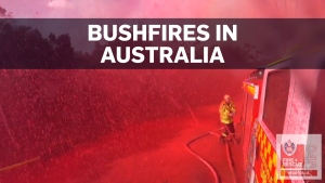 Firefighters battling deadly bushfires in Australi