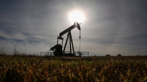 A pumpjack works at a well head on an oil and gas installation near Cremona, Alta., Saturday, Oct. 29, 2016. The association that represents Canadian drilling companies is forecasting a slight improvement in drilling activity in 2020. (The Canadian Press/Jeff McIntosh)