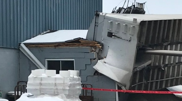 Truck smashes into Tecumseh business - CTV News Windsor
