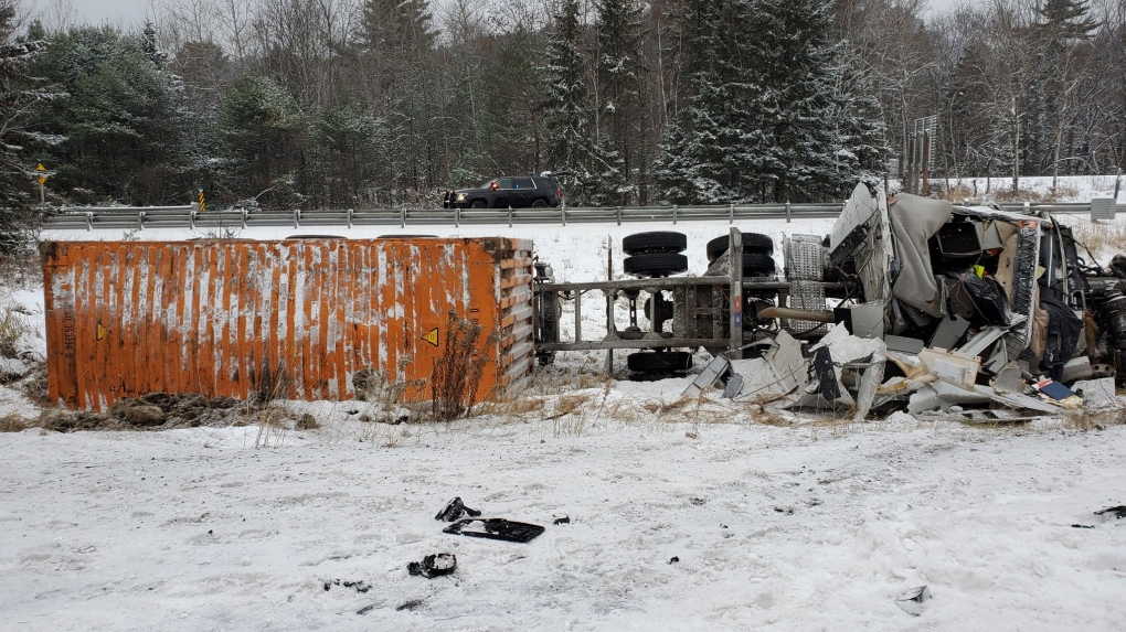 Driver seriously injured in collision on Highway 11