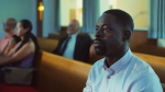 This image released by A24 shows Sterling K. Brown in a scene from 'Waves.' (A24 via AP)