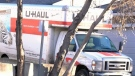 U-Haul truck hits multiple vehicles