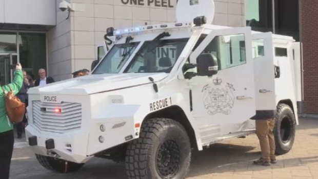 Armoured rescue vehicle donated to Saint John police in wake of deadly shootings - CTV News
