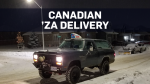 You bet this pizza delivery took place in Canada