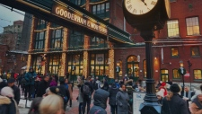 Torontonians visit the 2019 Toronto Christmas Market. (Craig Wadman/CTV News Toronto)