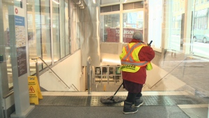 The city says steps have been taken to address slippery LRT station floors