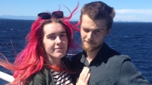 A GoFundMe campaign has been launched for Daisy Collis (left) and Dave Nutt (right) after Collis was struck by a vehicle and seriously injured at a marked crosswalk in Nanaimo. (Daisy Collis/Facebook)