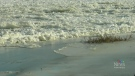 An ice Jam is causing unprecedented conditions in