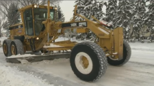snow plow, Red Deer, streets