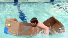 More than 200 students took part in the 17th annual Cardboard Boat Race.