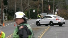 Goldstream Ave briefly closed for gas leak