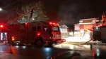 Edmonton Fire Rescue Services said a fire at a home near 112 Avenue and 86 Street was contained to the single building.