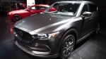 FILE - In this April 17, 2019 file photo, the 2019 Mazda CX-5 is shown at the New York Auto Show. (AP Photo/Mark Lennihan, File)