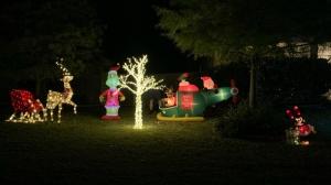 Claudia and Nick Simonis put out a handful of Christmas decorations November 1. (Claudia Simonis/CNN)