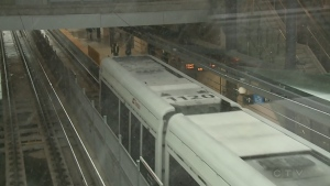 The record snowfall that buried the capital on Saturday caused a pair of issues for the city's LRT system.