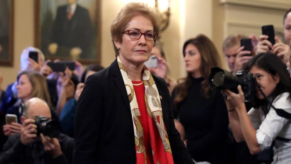 Ex-U.S. Ambassador to Ukraine Marie Yovanovitch