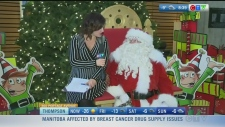 Rachel Lagacé gets a visit from Santa Claus this morning. She finds out more about his visit to town.