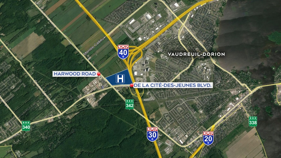 The planned site of the Vaudreuil-Dorion hospital