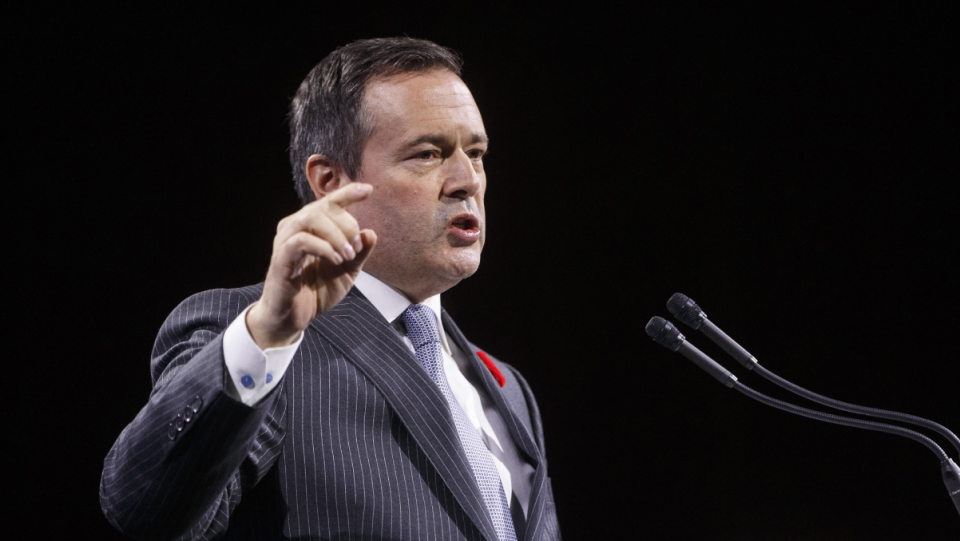 Alberta Premier Jason Kenney's UCP government has faced questions over travel expenses and awarding of legal contracts this week. (THE CANADIAN PRESS/Jason Franson)