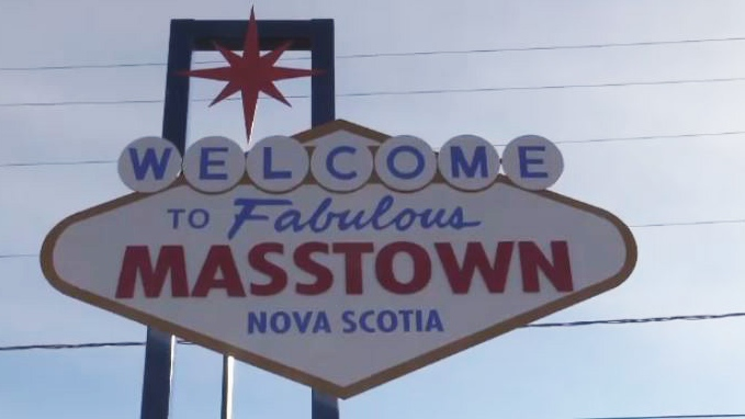This flashy new sign promoting Masstown Market is turning heads and prompting selfies at the site off Highway 104.