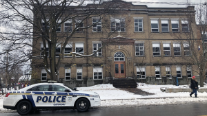 Students at Ecole Saint-Jean Bosco in Gatineau were sent to hospital with symptoms of headaches and nausea after reports of strange fujmes aboard their school bus. (CTV Ottawa)