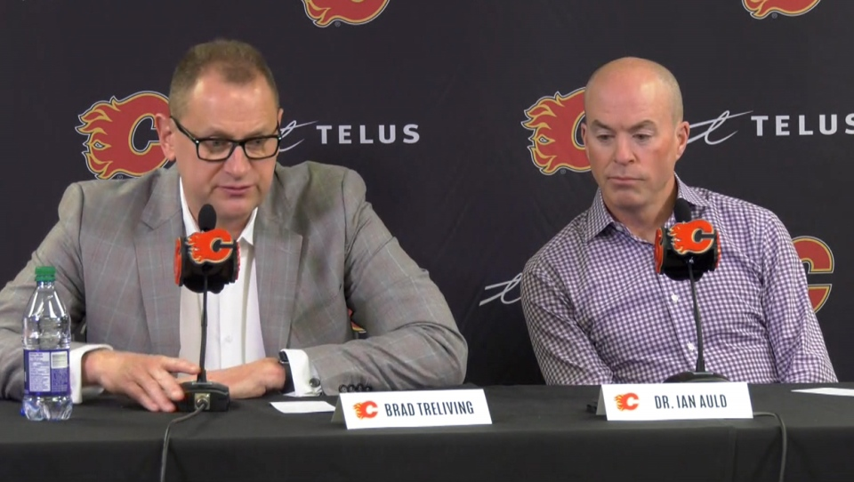 Calgary Flames GM Brad Treliving and head team physician Dr. Ian Auld provided an update on TJ Brodie's condition on Friday