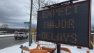 Mapleview Drive in Barrie road closures on Fri., Nov. 15, 2019 (Steve Mansbridge/CTV News)