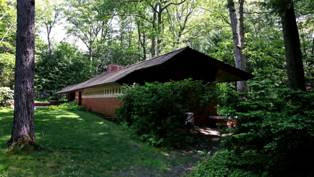 This Wednesday May 31, 2017 photograph shows Zimmerman House, designed by Frank Lloyd Wright in Manchester, N.H. (AP Photo/Charles Krupa)