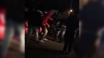 Disturbing video shows a mob of young men attacking a driver with golf clubs and other makeshift weapons in Surrey, B.C.