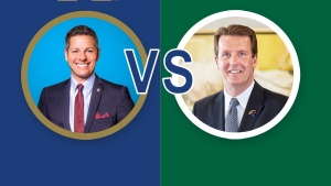 The mayors of Regina and Winnipeg have a friendly bet over the outcome of the Western Final (Twitter: Mayor_Bowman)