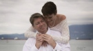 "Lisa and her husband, Anthony, celebrate their ""wonderful"" wedding. (CTV News)"
