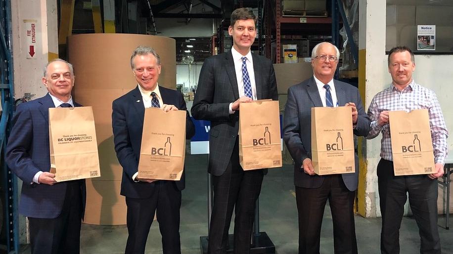BC liquor paper bags