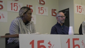 Labour groups renew call for $15 minimum wage