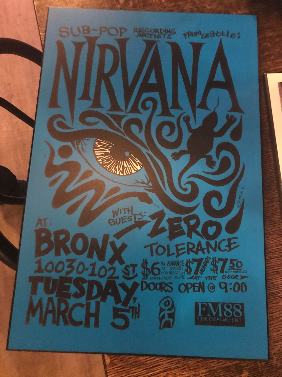Looking at 1991 Nirvana poster, Starlite Room owner Tyson Cale Boyd recalls the venue has built a