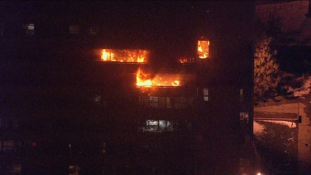 Firefighters rescue 6 people from burning North York building - CTV News